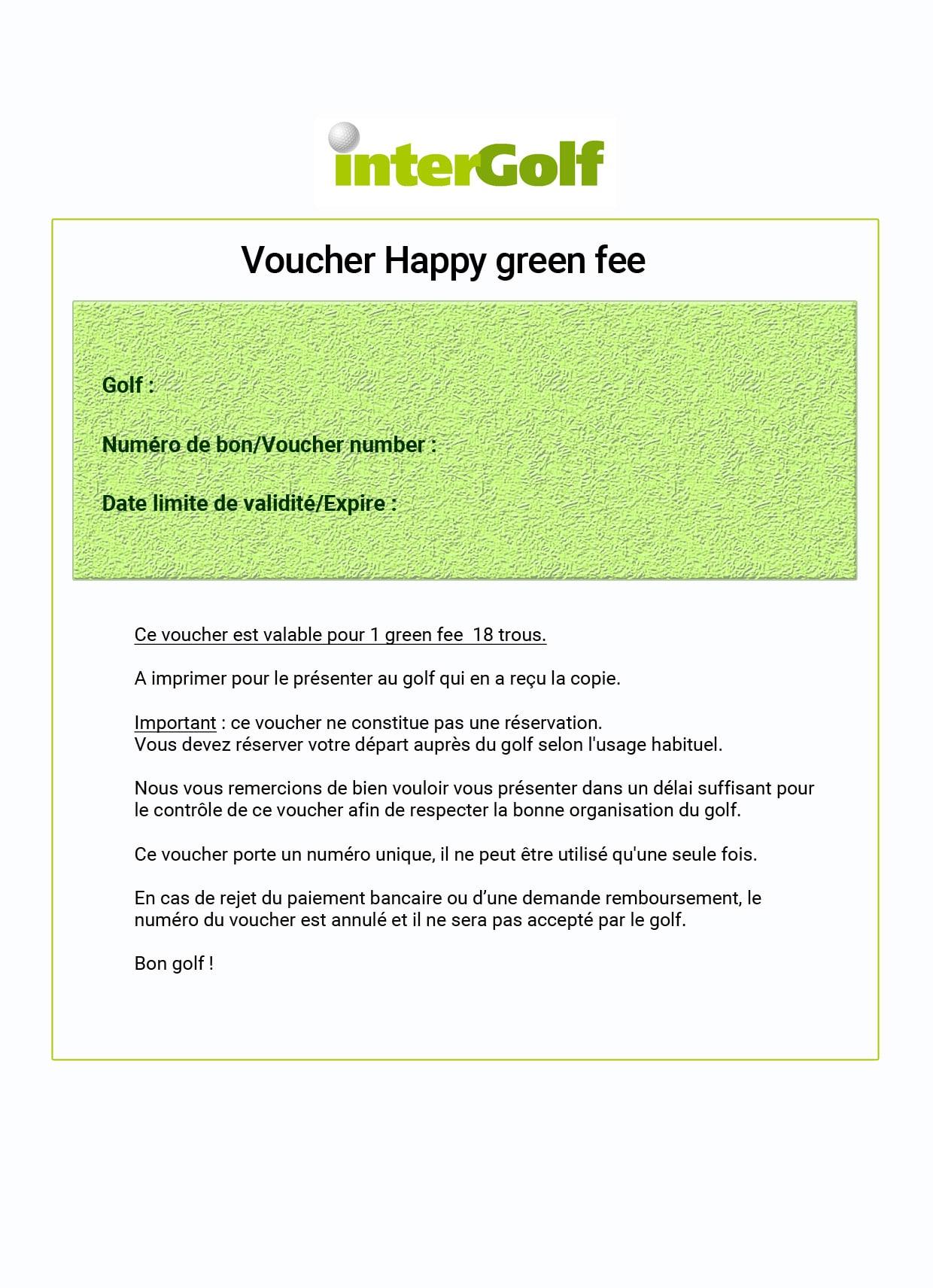 happy green fee golf de montereau la forteresse 30 sur intergolf. Black Bedroom Furniture Sets. Home Design Ideas