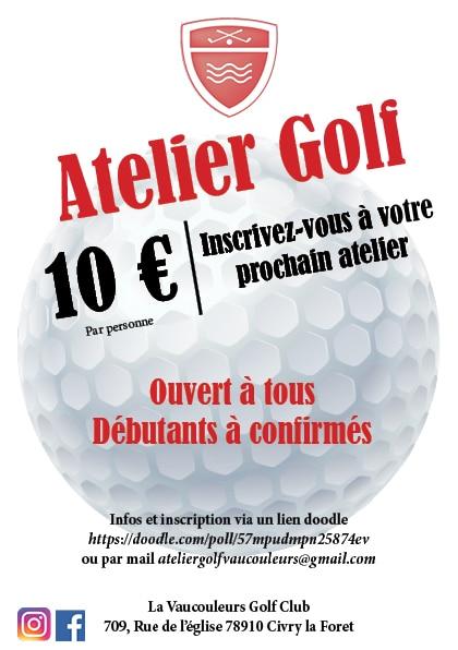 flyer Atelier golf vaucouleurs